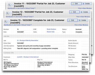 Invoicing Scenario Example Job Manager - Deposit invoice template